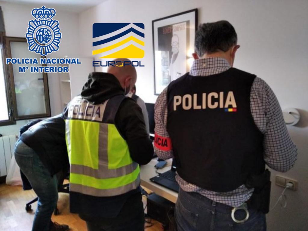 En una operación conjunta de la Policía Nacional con las autoridades de Andorra, Portugal, EUROPOL, INTERPOL y EUROJUST