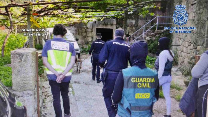 Operación conjunta de la Guardia Civil y la Policía Nacional en Galicia
