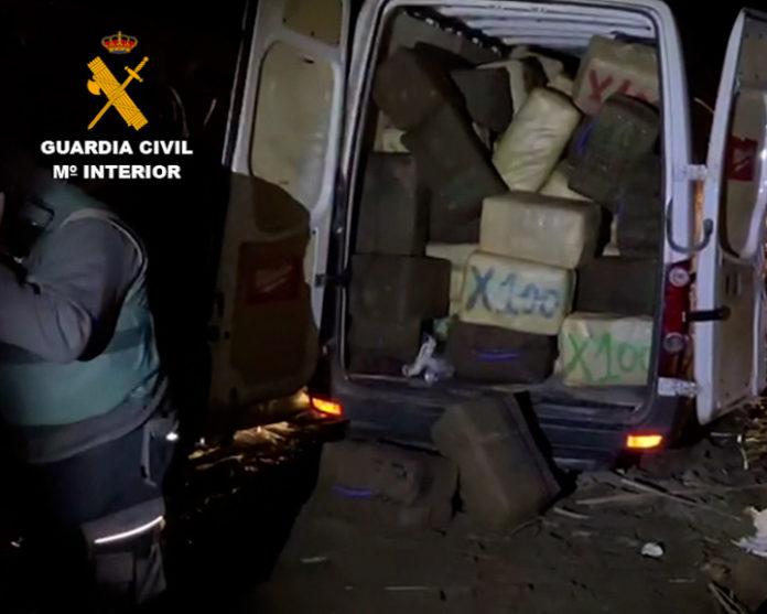 La Guardia Civil desmantela una red que distribuía grandes cantidades de hachís y marihuana por Europa